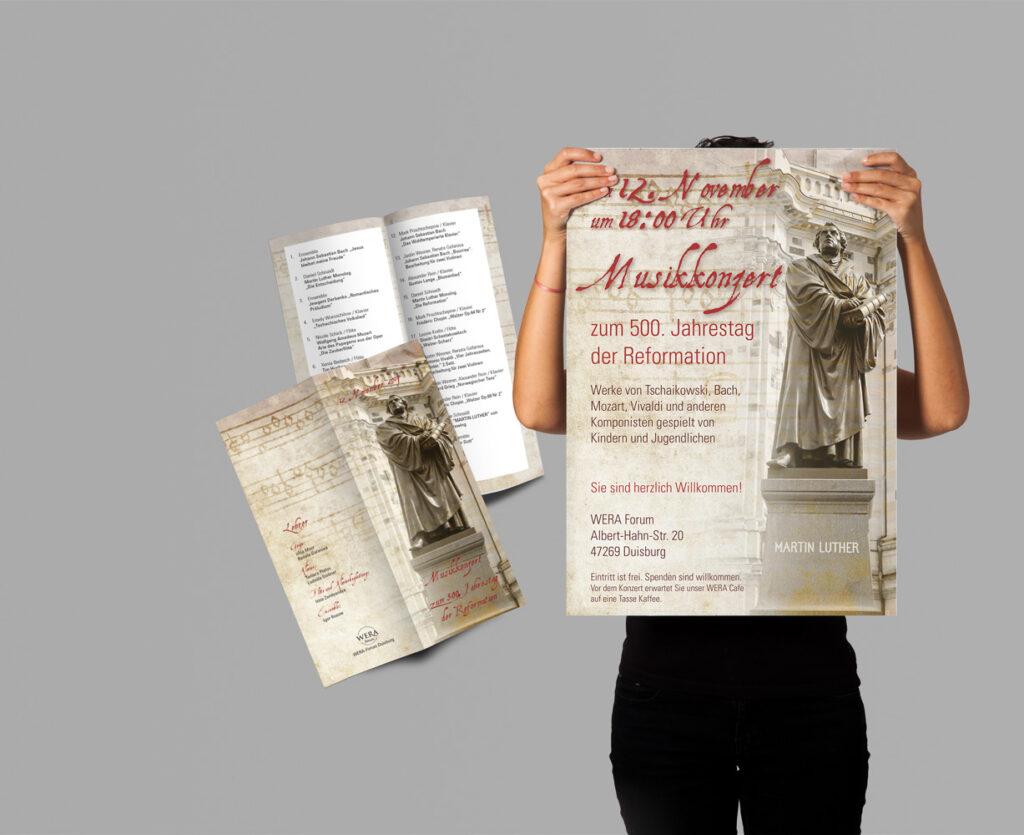 Plakat, Einladungen, Bilder-Präsentation,Programm für Musikkonzert